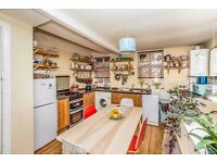 1 BEDROOM FLAT, WITH LARGE ARTIST STUDIO / HOME OFFICE, REAR GARDEN. FURNISHED, WITH WHITE GOODS