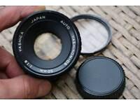 Yashica 50mm f/1.9 Auto Yashinon DS lens, M42 screw