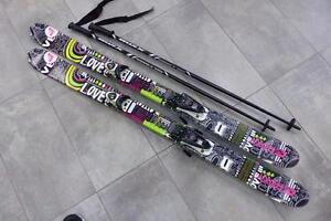 Skis paraboliques pour Femmes ROXY G1 138 cm + fixations et bâtons #F019383