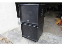 Pair of Peavey Eurosys 118 Bass bins. Subs