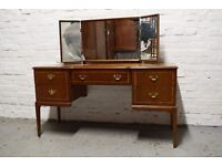 Beithcraft inlaid mahogany dressing table (DELIVERY AVAILABLE)
