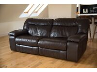 Italian Leather Sofa Recliner RRP£2000 (3 seater, dbl recliner)
