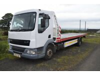 2005 DAF 45 170 TILT AND SLIDE RECOVERY TRUCK. 22FT BODY, 12T, 8 STUD AXLE