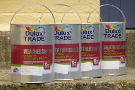 Masonry paint - pale yellow - Dulux Weathershield 4 x 5 litre cans