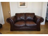 Leather 2 seater Sofa and 2x Armchairs. Genuine Leather Hyde.