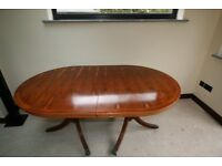 Yew Dining Table and chairs