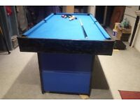 pool table fold up 6x3table ball return full set pool balls triangle 2 cues