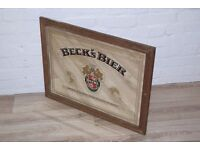Becks Pub Mirror (DELIVERY AVAILABLE)