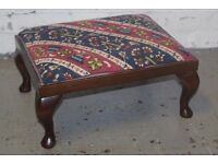 Mahogany footstool (DELIVERY AVAILABLE)