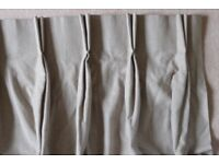 Beige Taupe Quality Lined Single Curtains - Double Pinch Pleat - £15 each