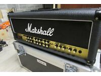Marshall 100 watt TSL triple super lead Head, footswitch and flight case