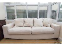 Sale * HOUSE CLEARANCE* Sofa, chair and pouffe set