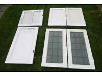Painted Alcove Cupboard Doors 1930s Vintage (6 Doors) Two Matching Pairs Home Restoration Project
