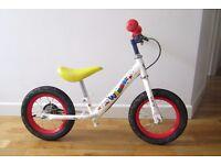 "Apollo wizzer balance bike 12"". Adjustable handle bars, saddle."