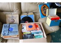 Huge collection of records, singles LP's and old shellac 78's and LP's