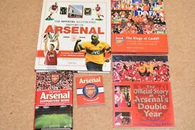 Selection of five Arsenal books