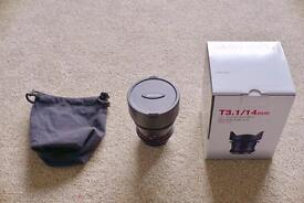 Samyang 14mm T3.1 Cine Wide Angle Canon fit