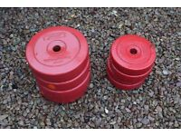 Lifting weights 4 x 10lb and 4 x 5lb £25