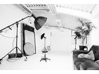 Photography Studio Hire including lighting equipment (Photo, Film, Video, 5.5m Infinity Cove Studio)