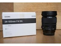 Sigma 25-105mm f/4 DG OS HSM Art lens *As New*
