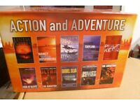 BOX SET of 10 PAPERBACKS BOOKS ( Action and Adventure New )