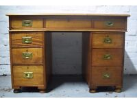 Edwardian kneehole desk (DELIVERY AVAILABLE)
