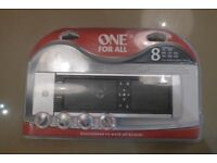 One For All Universal remote control - controls up to eight devices