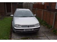 Silver 1999 Volkswagen 1.4 Golf MK4 3 DOOR HATCHBACK *GEARBOX FAULT* selling car or parts