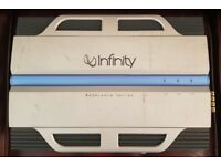 CAR AMPLIFIER INFINITY REFERENCE 7540A 4 CHANNEL STEREO AMP TO RUN THE SUBWOOFER OR DOOR SPEAKERS