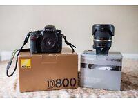 Nikon D800 36.3MP DSLR Camera & Tamron 24-70 mm F2.8 VC USD Lens ( Excellent Condition )