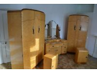 Birds Eye Maple veneer bedroom furniture set