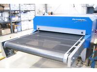 Screen Printing Gas Tunnel Dryer Synchro Jet High Capacity T Shirts Sweatshirts