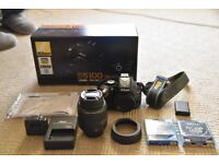 Nikon d5100 (excellent condition) ,18-55mm lens kit includes box and free accessories