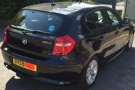 BMW 1 SERIES 116d 5dr (59 PLATE) BLACK,RoadTax £30,MOT till 2018, AUX Input, Smooth & ECONOMICAL CAR