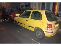 Cheap Yellow Nissan Micra