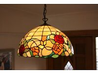 LARGE Tiffany Ceiling lights x2 and 1 Tiffany Table Lamp