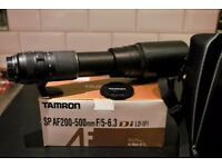 Nikon Fit - Tamron SP AF 200-500mm f/5-6.3 Di LD (IF) full frame telephoto lens