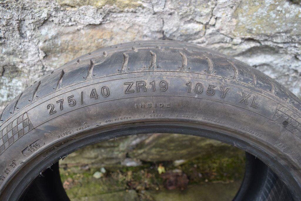 2 x 275/40/19 Accelera Tyres