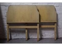 Pair of vintage headboards (DELIVERY AVAILABLE)