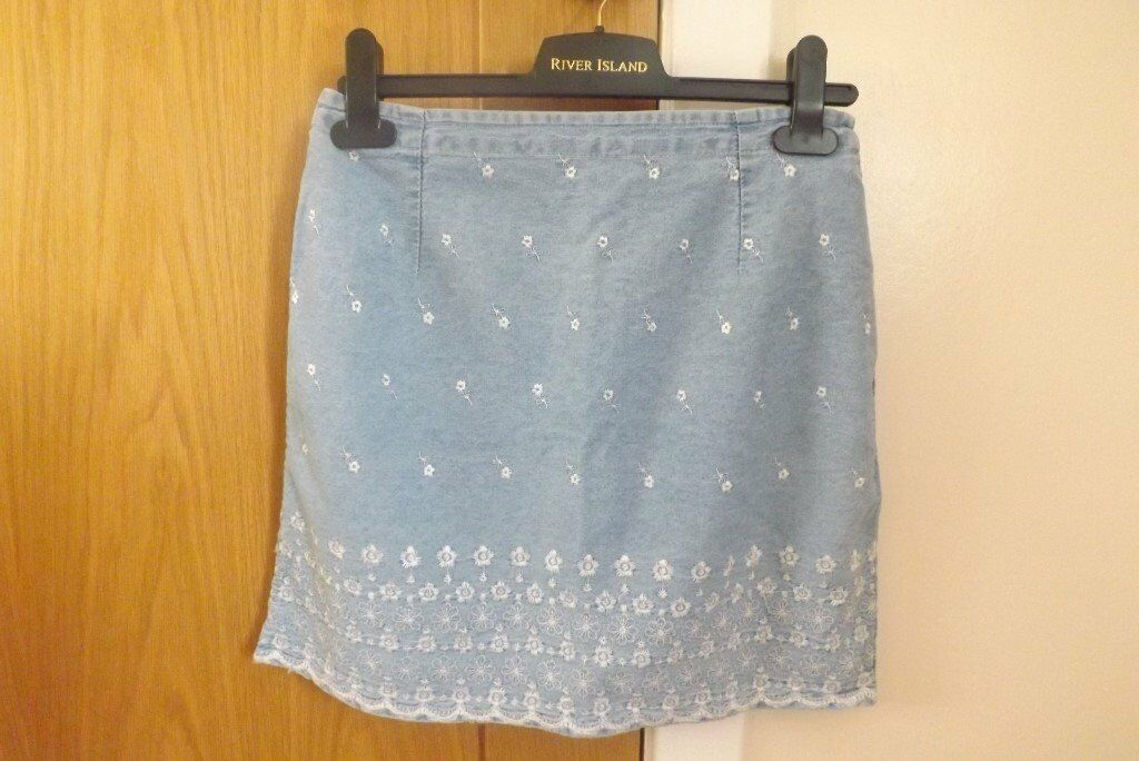 River Island Denim Skirt Size S