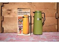 Retro Vintage Thermos Leisure Makee Jug with its original box green