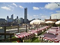 Roof Top Waiter - Shoreditch House