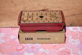 EKCO Hotplate in original box and extras