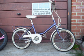 Vintage 1987 Raleigh Girls Bike.18inch Chrome Wheels. Ages 6-9.Serviced.(27.6)