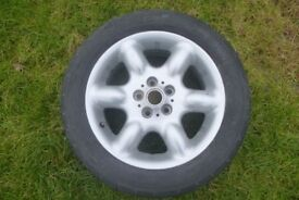 car wheel and tyre 225x55x17