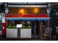 Experienced Chef Required for Italian Restaurant