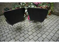 Set of 2 Espresso (dark brown) colored Chairs.