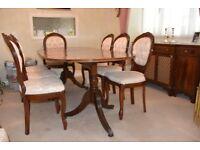 Elegant Solid Mahogany Dining Room Furniture