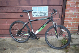 "Raleigh Venture Mens Hardtail Mountain Bike.17"" Alloy Frame.18 Speed. Serviced. (18.11)"