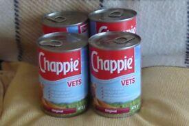 4 Tins of Chappie Original Dog Food, Histon